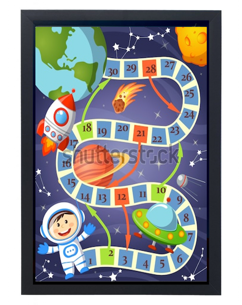 הרפתקה בחלל - משחק מסלול